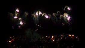 Sad fireworks stock video