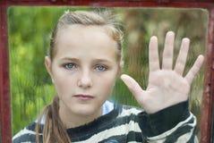 SAD flicka Arkivbild