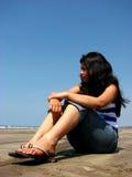 SAD flicka Royaltyfri Foto