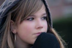 SAD flicka Fotografering för Bildbyråer