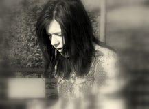 SAD flicka Royaltyfri Bild