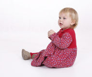 Sad or frightened small young girl Royalty Free Stock Image