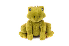 Sad frog. Toy isolated on white background Royalty Free Stock Photography