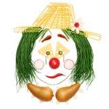 Sad fruity clown. Stock Photos