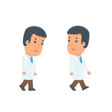 Sad and Frustrated Character Doctor goes and drags Royalty Free Stock Photos