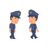 Sad and Frustrated Character Officer goes and drags Royalty Free Stock Photos