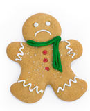 Sad gingerbread man Stock Photo