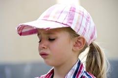 Sad girl. Portrait of a cute sad little girl Royalty Free Stock Photos