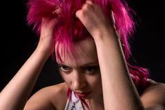 A sad girl Stock Photos
