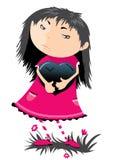 The sad girl Stock Image
