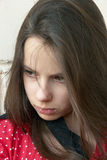 Sad girl. Portrait of a beautiful sad teenage girl Royalty Free Stock Image