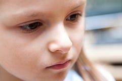 Sad girl. Portrait of a sad girl Stock Image