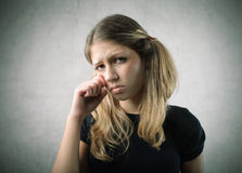 Sad girl Royalty Free Stock Photography
