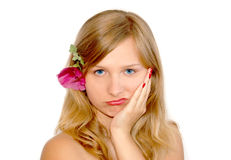 Sad girl stock photography