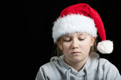 Sad girl at christmas Royalty Free Stock Photo