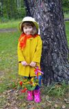 A basket of flowers forest childhood beauty portrait spring senior grass people tree plant green person flower little happy outdoo Stock Photos