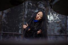 Sad girl in coat Royalty Free Stock Photography