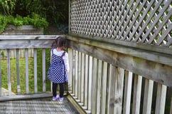 Sad girl in the corner Stock Image