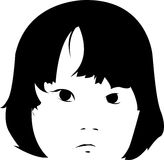 Sad Girl Face Illustration Royalty Free Stock Photography