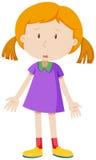 Sad girl having measles Stock Photo