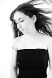 Sad girl with long hair Stock Photography