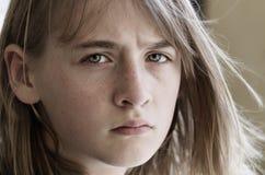Sad girl. Looking in camera Royalty Free Stock Photos