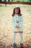 Sad girl in park Stock Photography