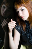 Sad girl portrait Stock Photo
