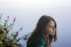 Sad girl royalty free stock images