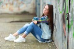 Sad girl sitting Royalty Free Stock Photography