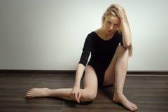 Sad girl sitting Stock Photography