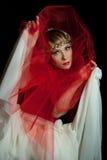 Sad girl. Theatre actress Stock Photography