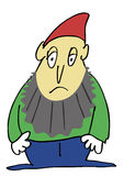 Sad gnome Royalty Free Stock Photography