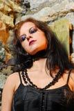 Sad Goth Girl Royalty Free Stock Photo