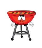 Sad grill cartoon Stock Image