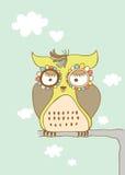 SAD gullig owl Royaltyfri Foto