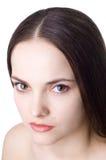 SAD härlig brunett Royaltyfri Fotografi