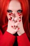 SAD härlig flicka fotografering för bildbyråer