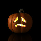 Sad Halloween Pumpkin Royalty Free Stock Photography