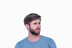 Sad handsome man looking away Royalty Free Stock Photography