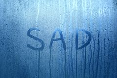 Sad handwritten word background royalty free stock images