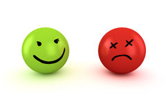 Sad and happy emoticons Stock Photo