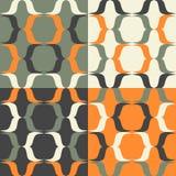 Sad harlequin. Seamless patterns. Minimalism. Color options Stock Image