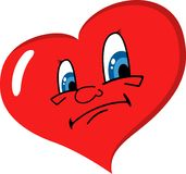 Sad heart Stock Photo