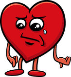 Sad heart cartoon character Royalty Free Stock Photo
