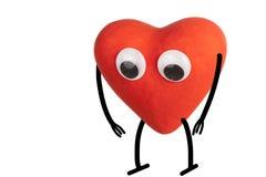 Sad Heart character Royalty Free Stock Photos