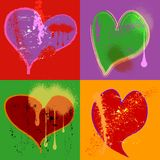 Sad Hearts Royalty Free Stock Photography