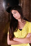 Sad hispanic girl Stock Images