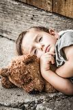 Sad Homeless Boy stock photography