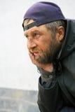 Sad homeless man Stock Images